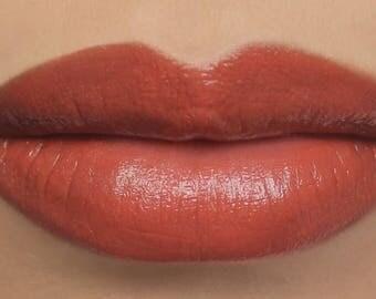"""Vegan Lipstick - """"Flamingo"""" (semi-sheer coral mineral lipstick) natural lipstick balm, lip colour"""