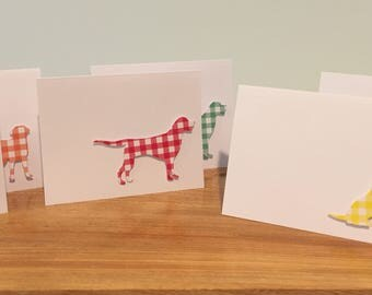 labrador retriever cards, lab greeting cards, labrador thank you cards, dog cards, dog thank you cards, set of 6