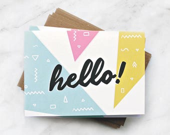 Hello! Triangle Card Pack
