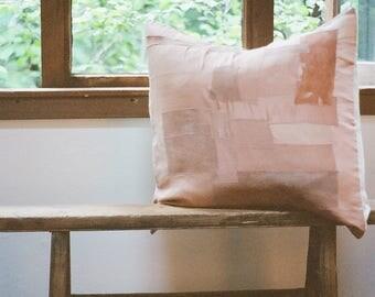 Avocado Dyed Pieced Pillow Cover