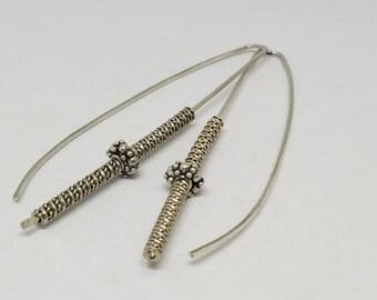 Drop Sterling Silver Earrings