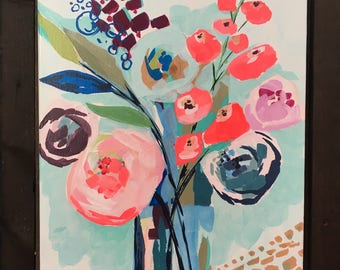 Floral Still Life Acrylic Painting