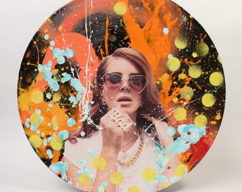 Lana Del Ray vinyl record fan art