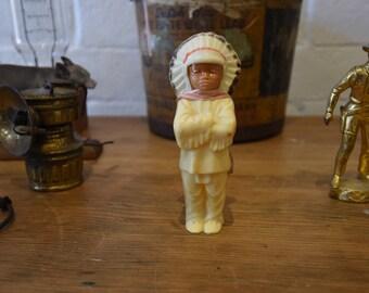 Vintage Roadside Souvenir Native American Figure