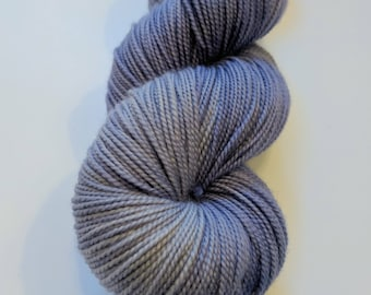 Lavender gray on Max 80/20 SW Merino Nylon Hand dyed fingering weight sock yarn