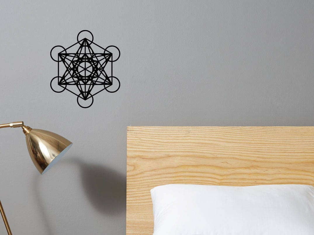 metatron s cube decal choose your color zoom