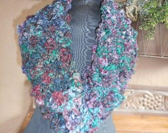 Hand Knit Cowl, Hand Knit Scarf, Hand Knit Infinity, Cowl, Scarf, Infinity