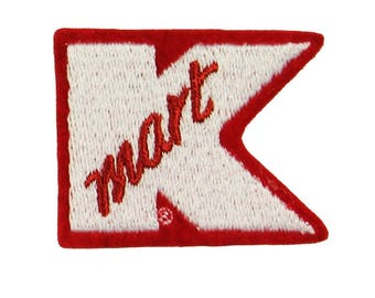 Kmart Symbol Badge Patch Uniform Employee Tag Embroidered Sew On Applique