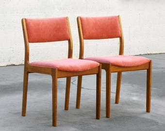 Pair of Danish Modern Teak Dining or Guest Chairs, Refinished