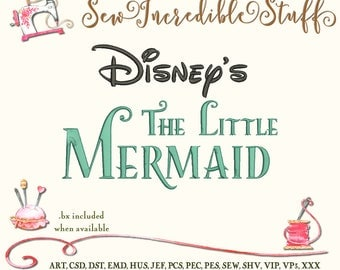 Disney's The Little Mermaid Machine Embroidery Font