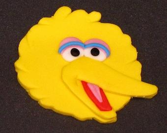 Sesame Street 2D Big Bird  Edible Fondant Cake Toppers