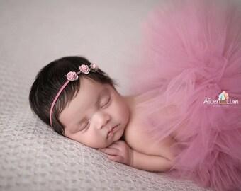 MAUVE TUTU Set, Tutu and Headband, Newborn Tutu, Baby Tutu, Mauve Tutu, Newborn Photo Prop, Photo Prop, Tutus for Children, Baby Tutu Skirt