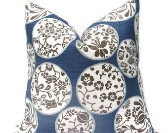 15% Off Sale Blue Pillow ,Blue Pillow Cover, Tan Pillow , Tan Pillow Cover, Decorative Pillow Cover, Blue Tan Pillow , Accent Pillow Cover,