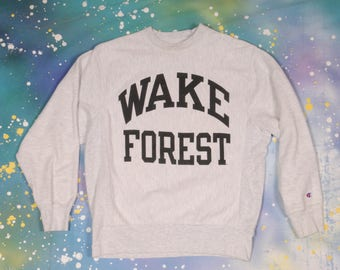 WAKE  FOREST CHAMPION Reverse Weave Sweatshirt Size S