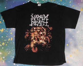 NAPALM DEATH Metal Rock T-Shirt Size L