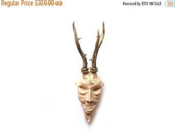 Devil sculpture, Devil head, Creepy sculpture, Wall art ceramics, Stoneware sculpture, faux taxidermy, creepy faux taxidermy, weird art