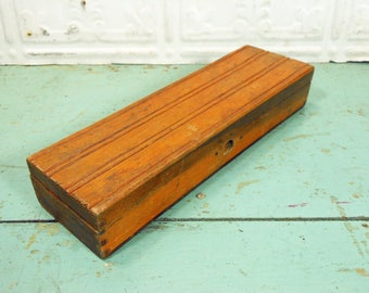 Vintage Wooden Pencil Box, Wooden Box with Compartments for School Supplies