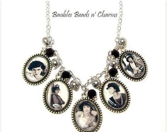 Sale Coco Chanel Necklace, Coco Chanel Picture Charm Necklace, Coco Chanel Photo Charm Necklace, Coco Chanel Jewelry