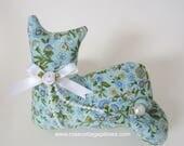 Cat Doll, Blue Country Floral, Pillow Tuck, Cottage Chic Cat, Cat Shape Pillow, Shelf Sitter, Stuffed Cat