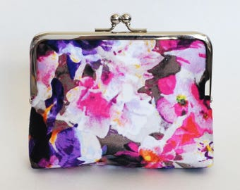 CLUTCH in Violet Floral - SMALL