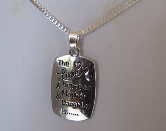 long necklace mi, rectangular pendant