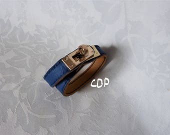 hermes style leather strap and metal