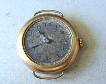 WWI Hallmark Trench Watch, 15 Jewels, 2 Adj., G. Shaeren Marked Movement, Runs For Short Periods