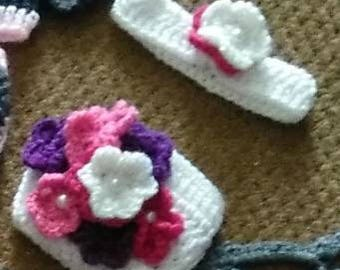 Flower headband and diaper cover