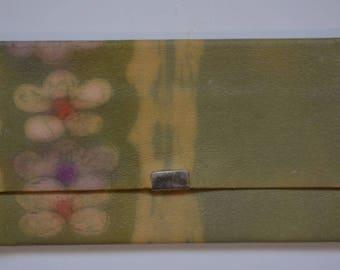 Washi paper fukusa basami flat wallet, vintage washi paper pouch, tea ceremony wallet