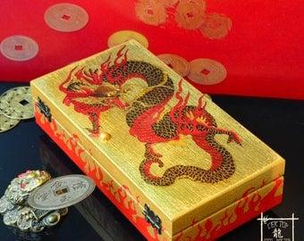 """Cash Box """"Dragon Feng Fhui"""",  Feng Shui gifts, Hieroglyph Wealth, Feng Shui Money Box,"""