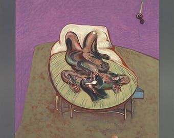 Francis Bacon-Personnage Couche-1966 Lithograph
