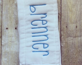 Personalized baby boy burp cloth, baby gift