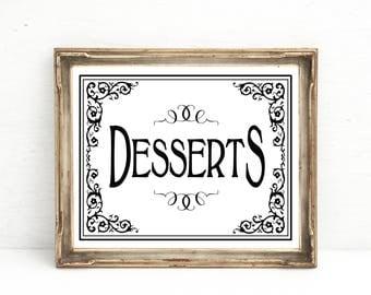 Dessert Bar Sign, Wedding Dessert Bar, Dessert Sign, Buffet Bar sign, Sweets Bar Signs, Banquet Signage, Reception sign, Wedding Decorations