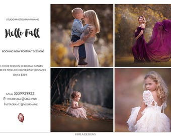 Fall Photography Marketing Template, 8.5x11in Fall Mini Session Board, Newsletter Ad, Photography Templates