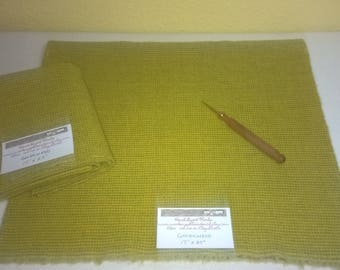 New Goldenrod - Wool Fabric - Fat Quarter - Rug Hooking Wool - Rug Making - Rug Supplies - Doll Making