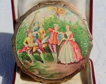 Vintage Stratton Princess Miniature Inspirations The Dance Powder Compact Mirror