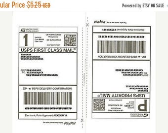 On Sale 25 Sheets SHIPPING Labels - 50 Half-Page Shipping Labels for Stamps.com, Paypal Shipping, USPS, Fedex, or UPSSelf Ahesive Labels,