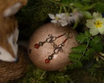 Carnelian copper Earrings