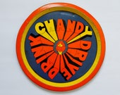 Vintage Drink Chandy Drive Advertising Metal Serving Tray