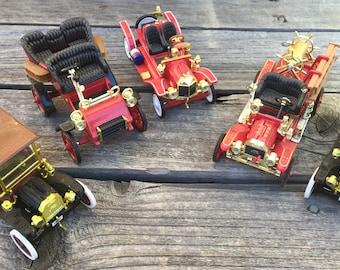 5 vintage fire trucks and trucks