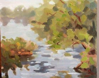 original oil painting landscape 6x8 inches