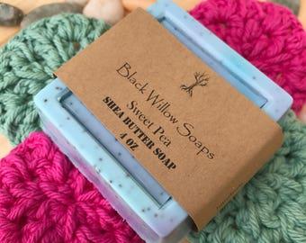Sweet Pea Facial Soap Bar, Facial Soap, Handmade Soap, Soap, Natural Soap, All Natural Soap, Bar Soap, Bath and Beauty, Spring Soap, Soaps