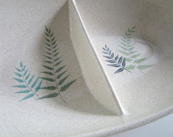 Franciscan Gladding McBean Fernleaf Divided Serving Dish