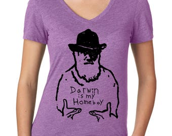 Biology Gifts Evolution Shirt, Darwin is My Homeboy, Biology Shirt for Her