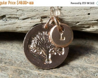 40% OFF Tree of Life Necklace, Family Tree Necklace, Rose Gold Necklace, Personalized Necklace, Initial Necklace, Mommy Necklace, Family Nec