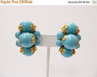 ON SALE JOAN Rivers Turquoise Beaded Earrings Item K # 1413