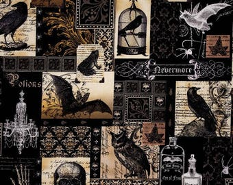 Planner Cover - in Michael Miller Nevermore fabric - F2