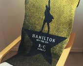Personalized lap blanket, personalised blanket, travel blanket, Hamilton Musical, hip hop, grunge, Australian made