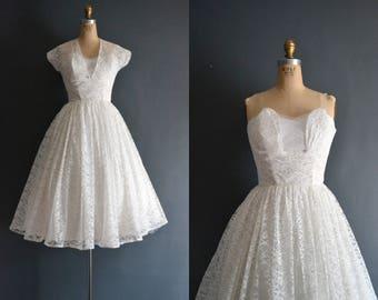 Ava / 50s wedding dress / vintage 1950s wedding dress