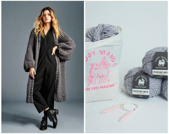 Loopy Mango DIY Kit - Winter Coat - Chunky Merino Wool